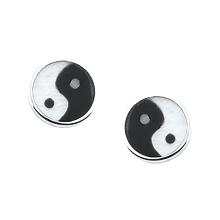 Sterling silver earstuds with zirconias