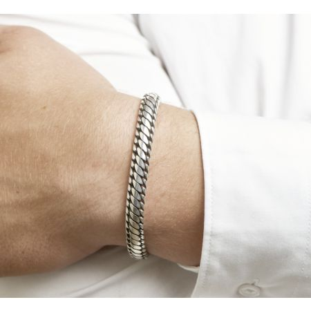 Sterling silver bracelet for men - engravable