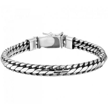 Engravable Sterling silver bracelet for men