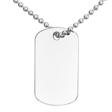 Silver Engravable Dogtag