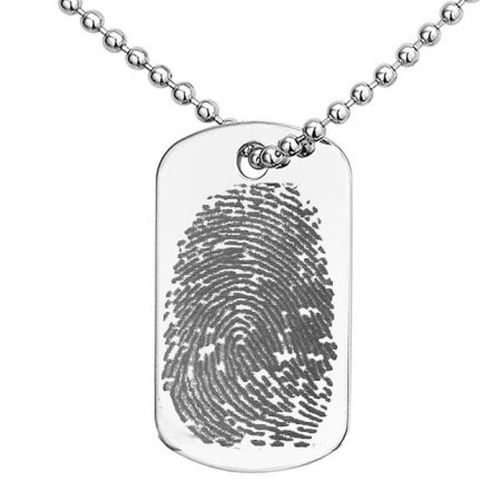 Dogtag Necklace with Fingerprint