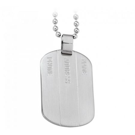Steel Dogtag with Engraving