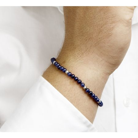 Bracelet with tiger's eye beads with silver Buddha bead