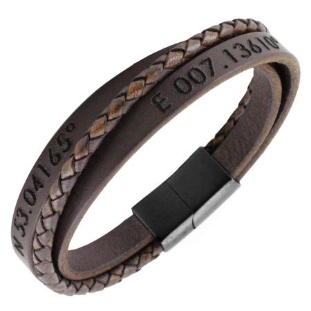 Hand stamped leather bracelet