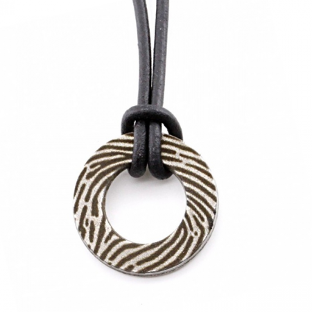 Round Necklace with Fingerprint
