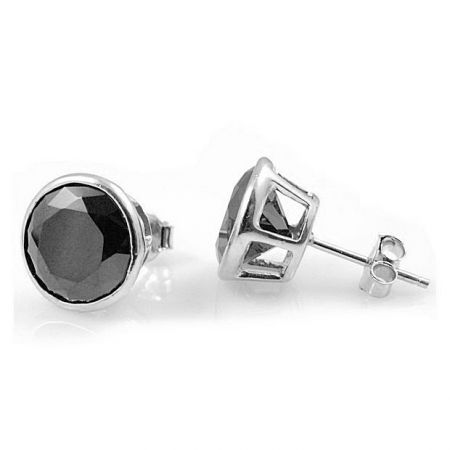 Stainless steel earstuds with zirconias