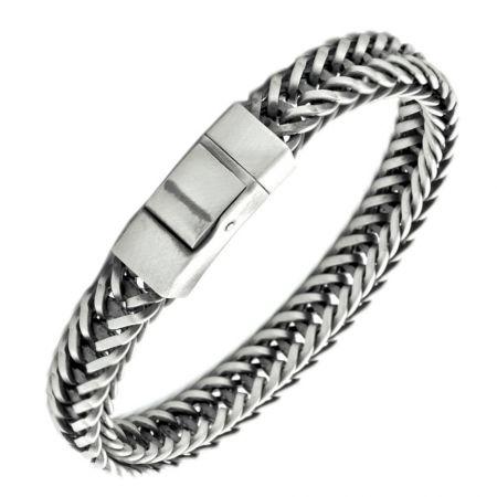 Sterling silver bracelet for men - engravable