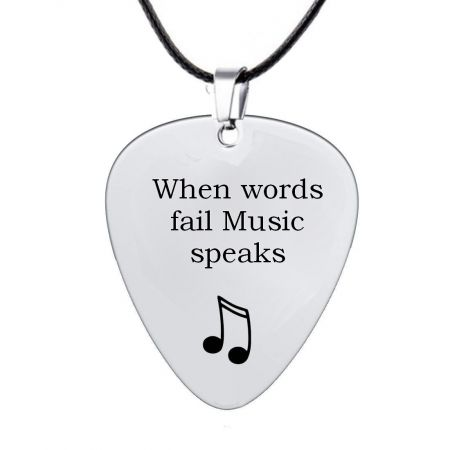 Stainless Steel Guitar Pick with Engraving