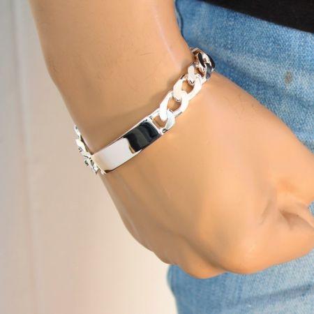 Sterling Silver 925 Mens ID bracelet