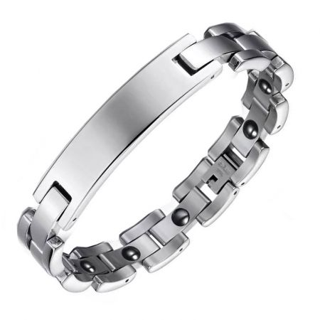 Stainless Steel Bracelet with Engraving