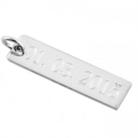 Silver Engravable Charm