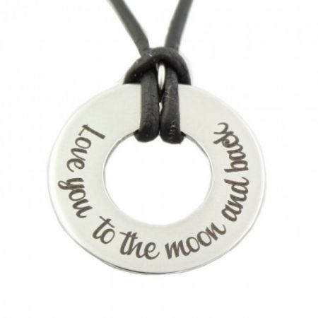 Round Steel Charm with Engraving