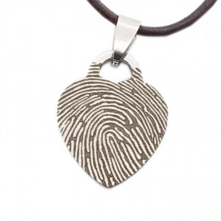 Steel Engravable Charm with Fingerprint