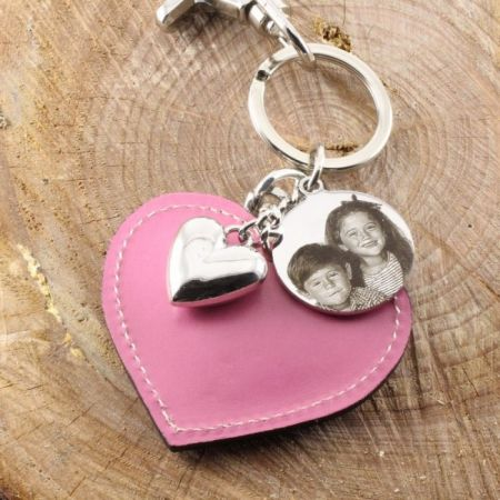 Keychain Heart with Picture Engraving