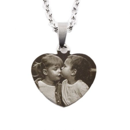 Pendant Dogtag stainless steel with photo engraving