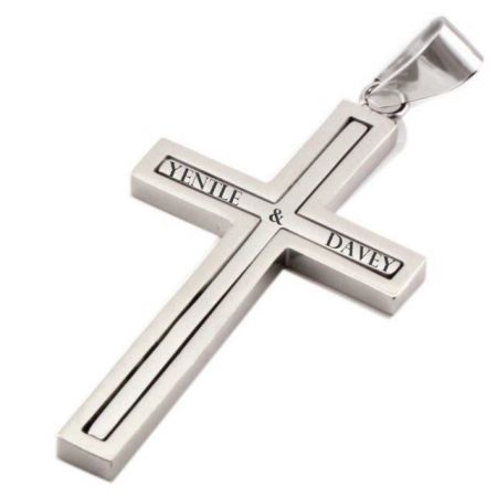 Stainless Steel Cross with Engraving