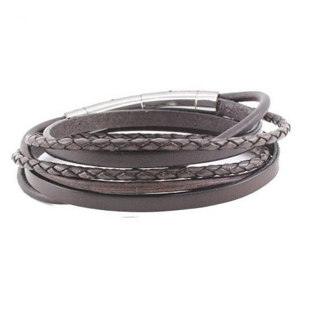 leather bracelet with adjustable clasp