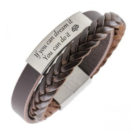 Leather Bracelet with Engraving