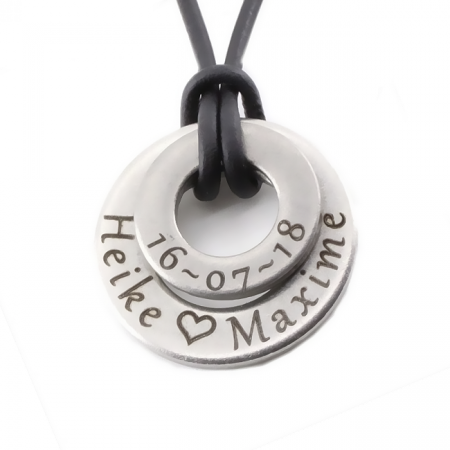 Steel Charm with Engraving